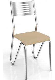 Cadeira Nápoles 2 Peças Crome Nude