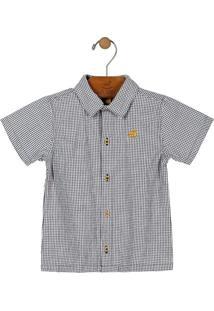 Camisa Estampada Preto