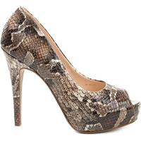 39bf6d80c Peep Toe Couro Shoestock Meia Pata Snake - Feminino