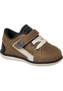 Sapato Bebê Masculino Klin Cra Furinhos - Masculino