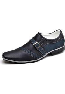 Sapato Social Novo Habito Forrado Palmilha Confort Masculino - Masculino-Marinho
