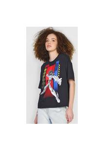 Camiseta 2Nd Floor Cavaleiros Do Zodíaco Seiya Preta