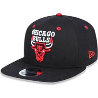 1b31ec94f Boné 950 Original Fit Chicago Bulls Nba Aba Reta Snapback New Era -  Masculino-Preto