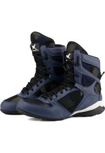 Bota Treino Camuflada Militar Mr Gutt Fitness Academia Azul - Azul - Masculino - Dafiti