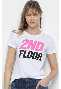 Camiseta Ellus 2Nd Floor Logo Néon Feminina - Feminino
