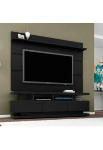 Rack Com Painel Para Tv 65 Polegadas Vivare Preto Acetinado 160 Cm