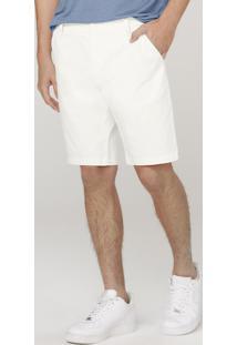 Bermuda Masculina Com Elastano - Off White