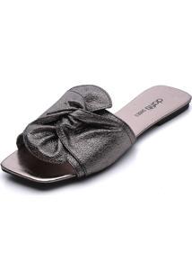 Rasteira Dafiti Shoes Nó Prata