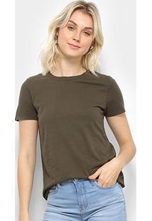 Camiseta T-Shirt Calvin Klein Basic Feminina - Feminino-Verde