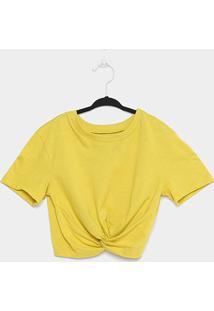 Blusa Cropped Infantil Colcci Fun Nozinho Feminina - Feminino