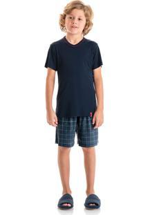 Pijama Clovis Curto Infantil Marine/06