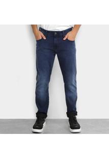 Calça Jeans Slim Forum Masculina - Masculino-Azul