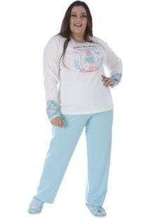 Conjunto Pijama Victory Plus Size Inverno Feminino - Feminino