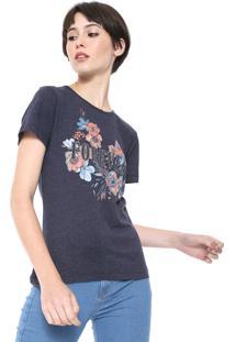 Camiseta Triton Floral Azul