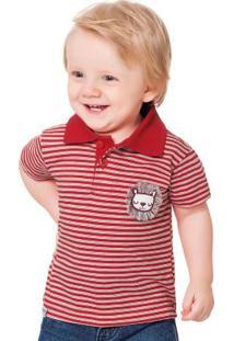 Camisa Polo Vermelho Fakini Kids