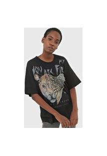 Camiseta Colcci Animal Preta