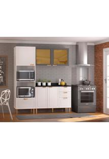 Cozinha Compacta Nevada Iii 5 Pt 4 Gv Branca E Grafite