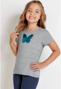 Blusa Infantil Mescla Com Lantejoula Revesível