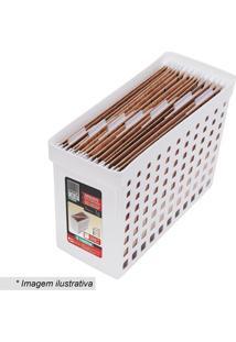 Arquivo Com Recortes Vazados- Branco- 27,1X43X16,4Cmordene