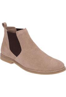 Bota Em Couro D&R Shoes Masculina - Masculino-Bege