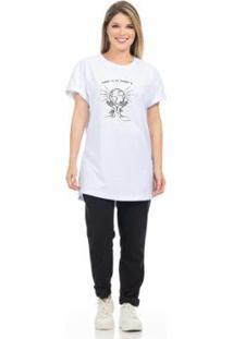 Camiseta Clara Arruda Feminina - Feminino-Branco
