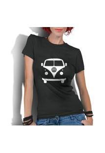 Camiseta Criativa Urbana Kombi Carro Antigo Clássico Preto