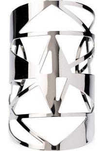 Bracelete Metal Com Recortes