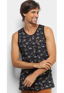 Camiseta Regata Hd Mas Especialember Island Masculina - Masculino-Preto