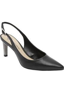ac788036b Sapato Chanel Em Couro- Preto- Salto: 7Cmcapodarte