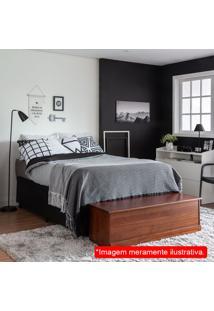 Colchão Casal Sleep Black Molas Ensacadas (22X138X188 Cm) Branco E Preto