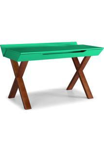 Escrivaninha Studio Cor Cacau Com Verde Anis - 28953 - Sun House