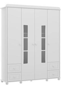 Roupeiro Infantil 2343 Petit Gateau 4 Portas Branco Acetinado Multimóveis