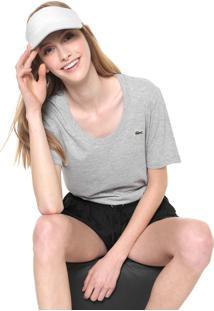 Camiseta Lacoste Lisa Cinza