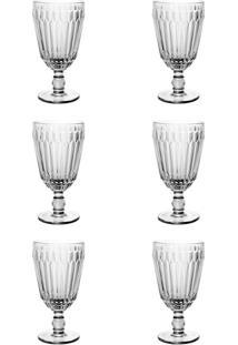 Kit Com 6 Taças De Água Bretagne Transparente 330 Ml