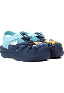 Sandália Infantil Grendene Kids Disney Mickey Sunny Day - Masculino-Azul