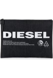 Diesel Porta-Moedas Com Logo - Azul
