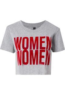 Camiseta John John Women Malha Algodão Cinza Feminina (Cinza Mescla Claro, P)
