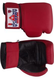 28f687082 Luva De Boxe Couro Vermelha América