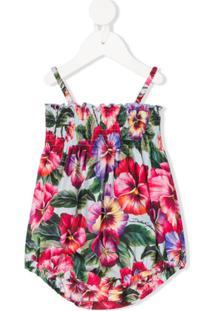 Dolce & Gabbana Kids Body Com Estampa Floral - Verde
