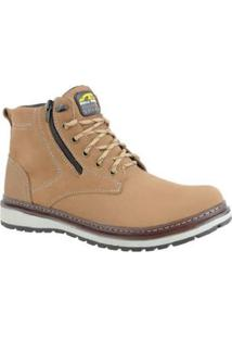 Bota Couro Zíper Lateral Bell Boots Masculino - Masculino-Caramelo