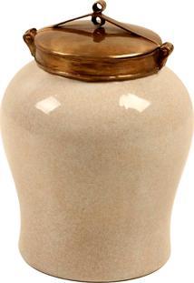 Vaso Decorativo De Porcelana Amur Ii P
