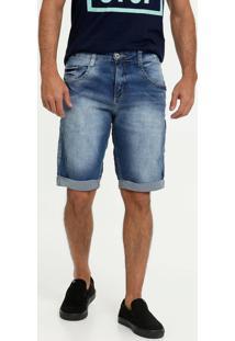 Bermuda Jeans Masculina Puídos Biotipo