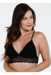 Sutiã Feminino Top Renda Marisa