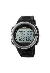 Relógio Digital Skmei -1111- Preto E Prata