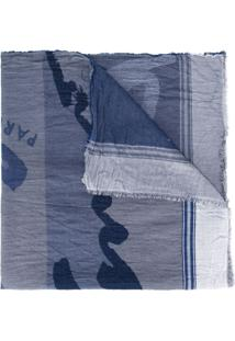 Kenzo Cachecol Com Estampa - Azul