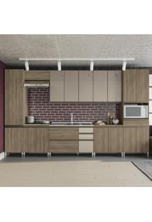Cozinha Completa Maxxi 16 Portas 5 Gavetas Nogal - Kappesberg