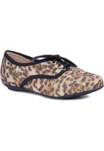 Sapato Com Cadarço Natural - Molekinha - Feminino