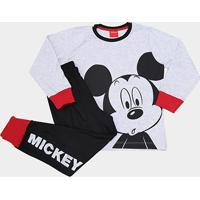 768c666d0 Netshoes. Pijama Infantil Evanilda Mickey Longo ...