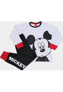 Pijama Infantil Evanilda Mickey Longo Tal Filho Masculino - Masculino