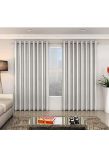 Cortina Blackout Carrara 180X200 Cm Prata